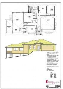 CAD Drafting   House Plans Sunshine Coast Bed  Bath House Plans